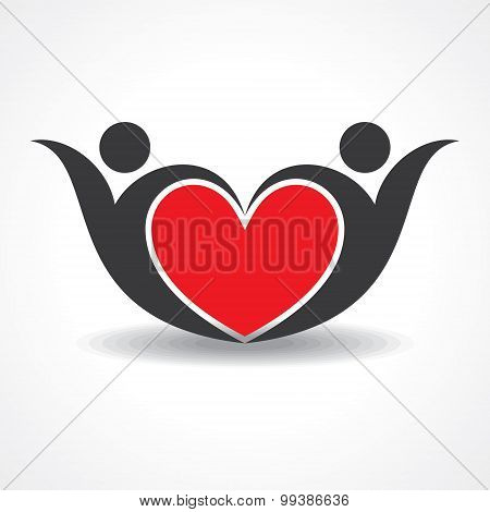 creative couple icon or happy valentine day design stock vector