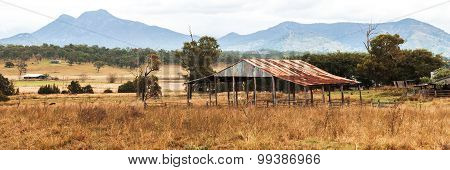 Abandoned building in the country