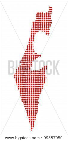 Red Dot Map Of Israel