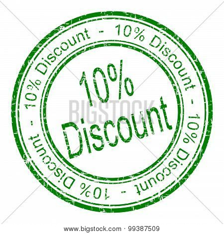 10% Discount rubber stamp