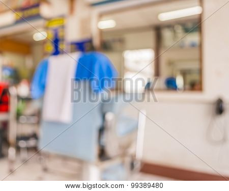 Image Of Old Haircut Shop.