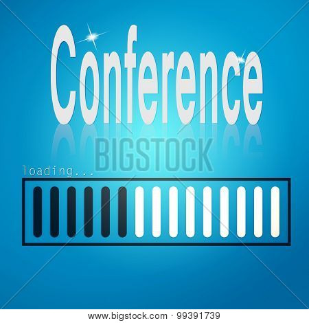 Blue Loading Bar With Conference Word
