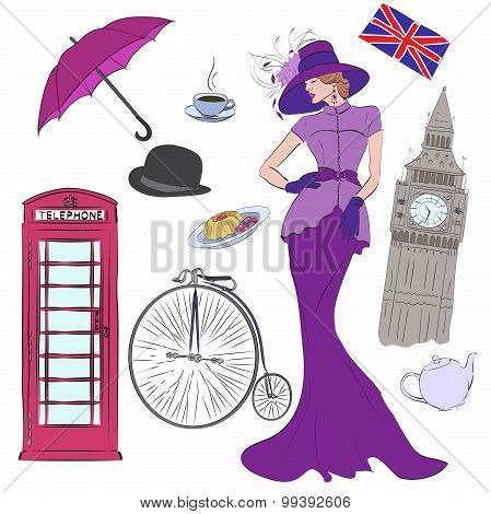 Lady and vector elements of London