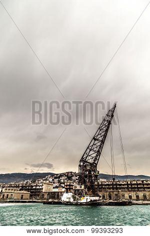 Big Crane In The Port Of Trieste