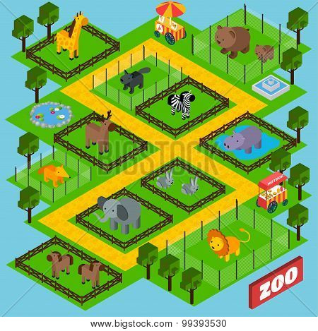 Isometric Zoo Park