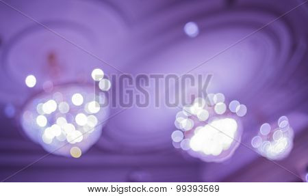 Image Of Blur  Chandelier  With Bokeh