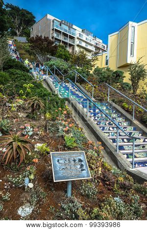 Mosaic stairway in San Francisco