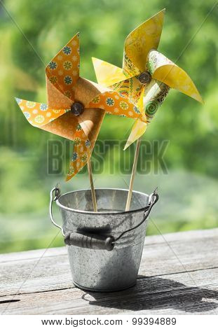 Homemade Paper Pinwheel