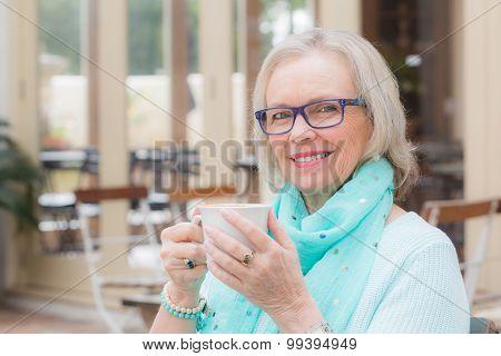 Senior Woman Coffee