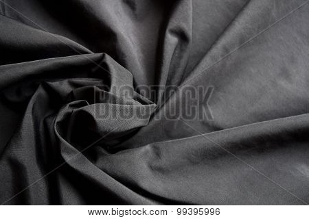 abstract background luxury cloth or circle flower wave or wavy folds of black cloth texture