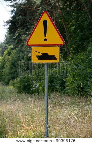 Tank Warning Sign