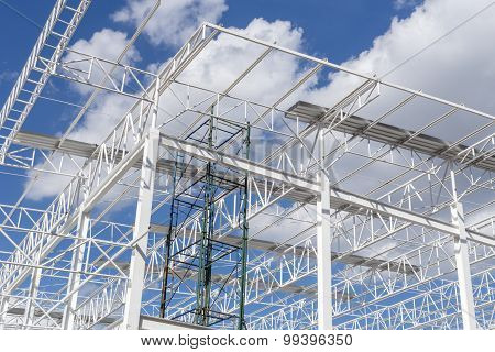 Steel Structure Background / Steel Structure / Steel Structure Under Construction