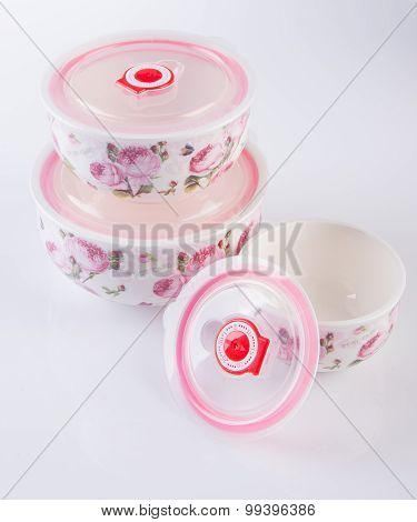 Food Containers On The White Background.