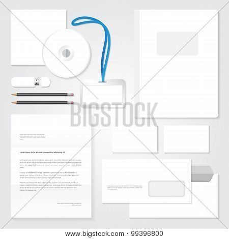 Vector identity template. Stationary blank design.