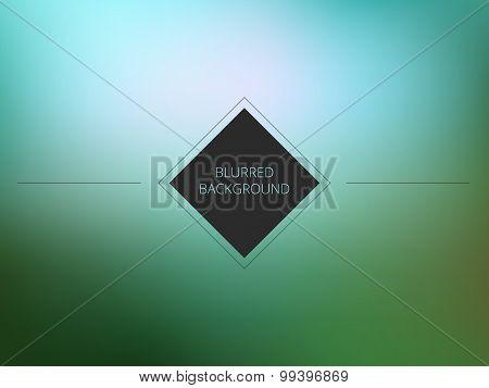 Vector sea color blurred background. Blurred design