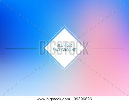 Vector pink and blue color blurred background. Sky unfocused design