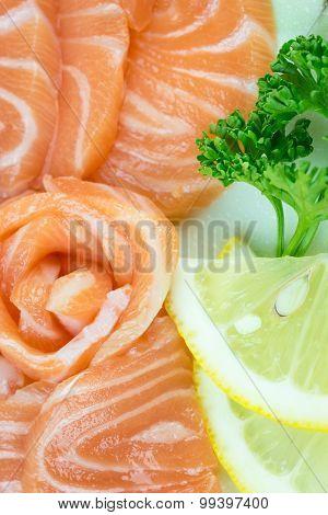 Fresh Red Salmon Texture