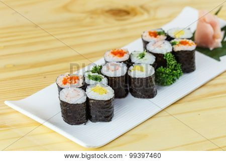 Traditional Japanese Food, Roll Sushi