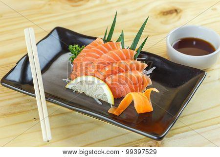 Traditional Japanese Food, Salmon Sashimi