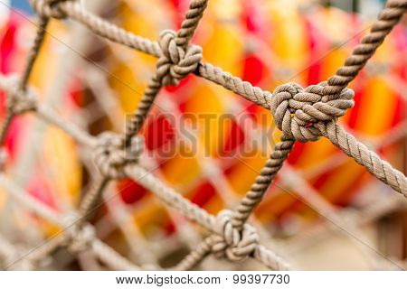 Close-up Rope Texture / Rope Texture / Close-up Rope In Playground Revealing Texture And Detail