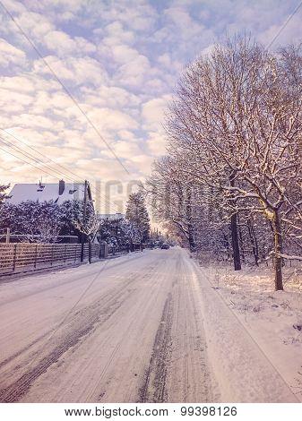 Winter Village Street