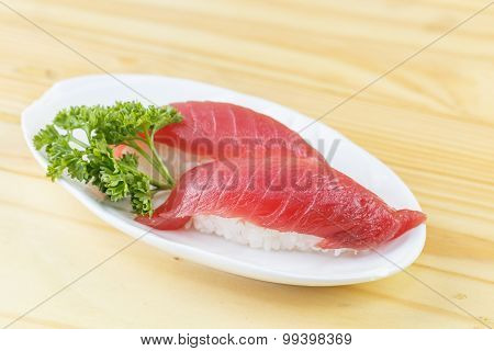Traditional Japanese Food, Maguro (tuna) Sushi