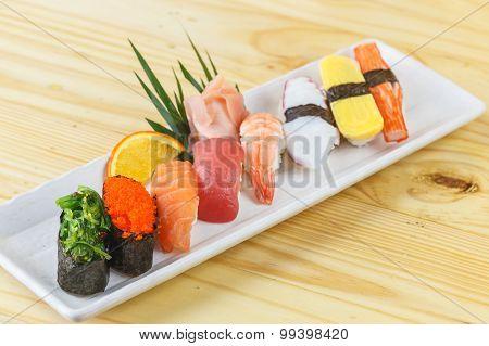 Traditional Japanese Food, Mix Sushi Set