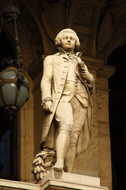 picture of mozart  - mozart statue at the old opera in frankfurt main germany - JPG