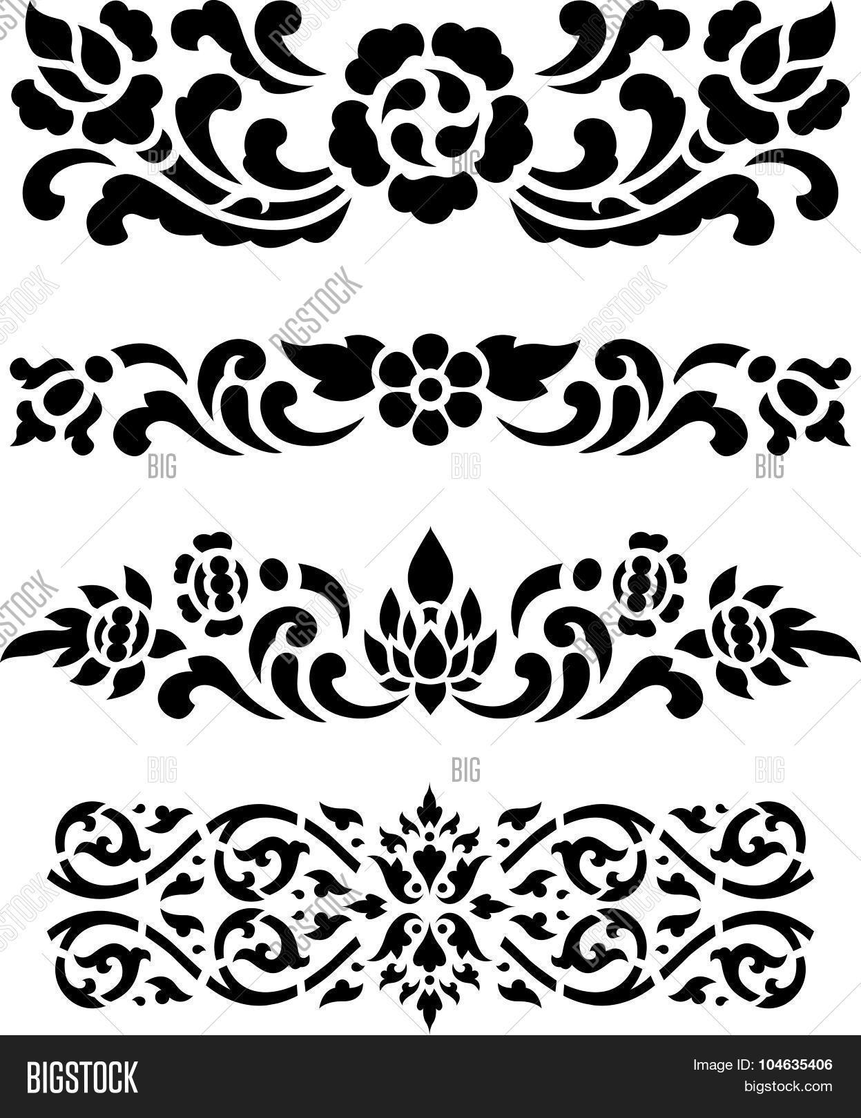 Traditional Muay Thai Pattern Design