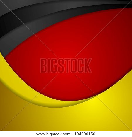 Corporate wavy bright abstract background. German colors