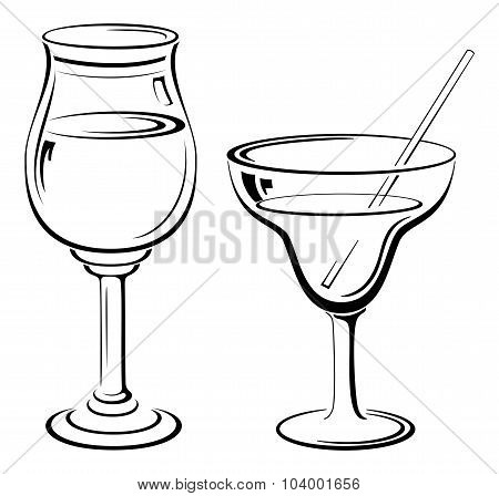 Glass with Drinks, Pictograms