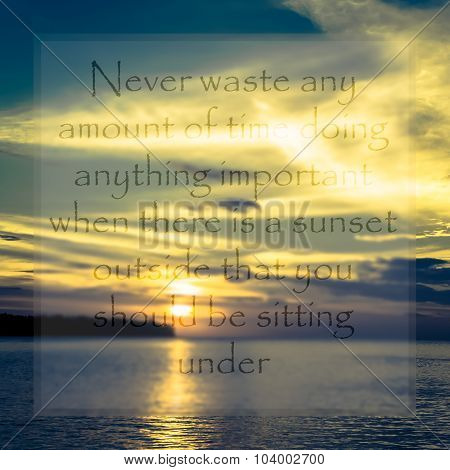 Meaningful Quote On Seascape Background