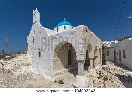 White Church in Parikia, Paros island, Cyclades