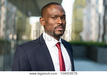 Portrait of an handsome businessman in a business environment