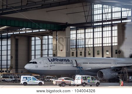 Lufthansa Airbus A330-300 At The Frankfurt Airport