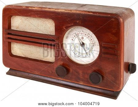 Old Portable Radio Isolated with Clipping Path
