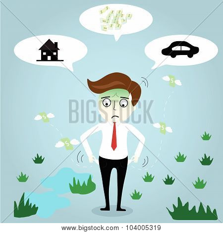 Businessman Headache About Money Car And The House3-01.eps