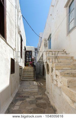 Old town street in Naxos island, Cyclades