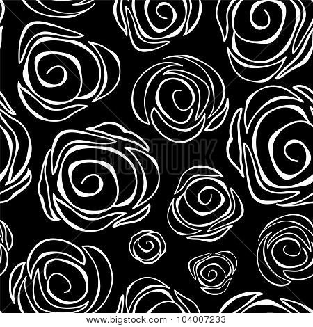 Seamless Floral Background. Abstract Rose. Vector Illustration