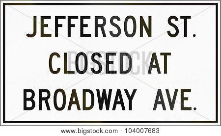 Street Closed In Canada