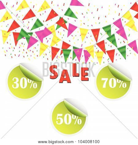 Sale Poster And Percent Discount