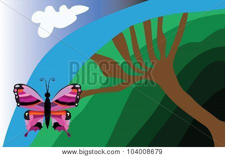 Tree And The Butterfly
