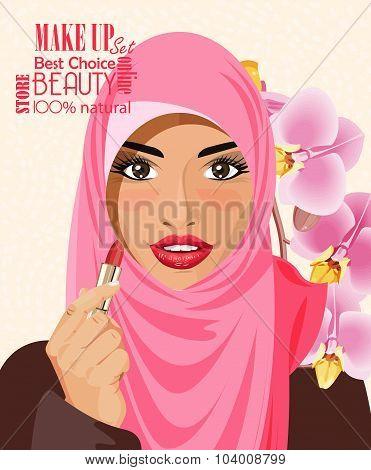 Make up of pretty arab woman