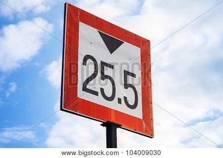 Height Limitation Navigation Sign For Ships Over Sky