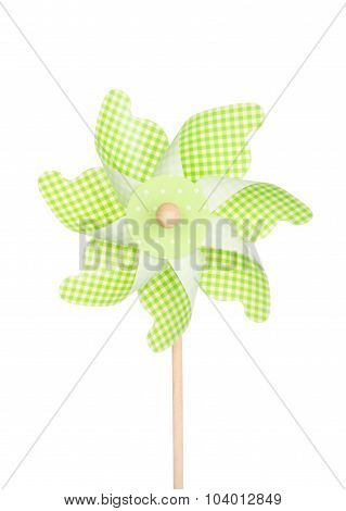 Colorful Pinwheel Isolated On White