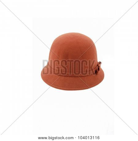 Woman hat, isolated on white