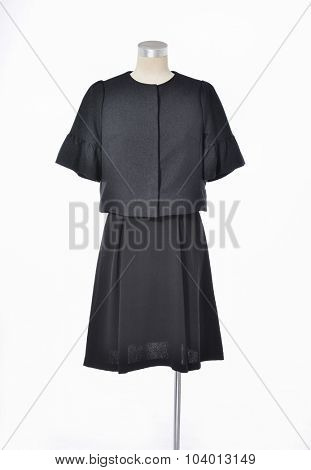 female black dress on dummy-white background