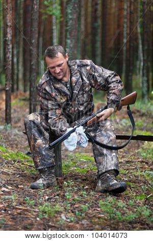 Hunter Cleaning Shotgun