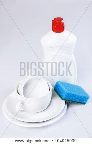Dishwashing Detergent, Sponge,