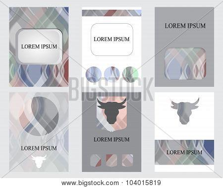 Set Of Brochure Design-stock Vector